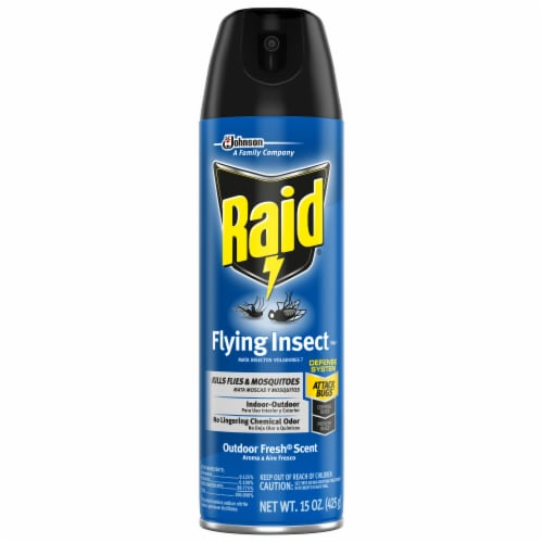 Raid® Outdoor Fresh Scent Flying Insect Insecticide Spray Perspective: front