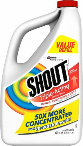 Shout Triple-Acting Laundry Stain Remover Perspective: front
