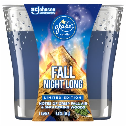 Glade Limited Edition Fall Night Long Candle Perspective: front