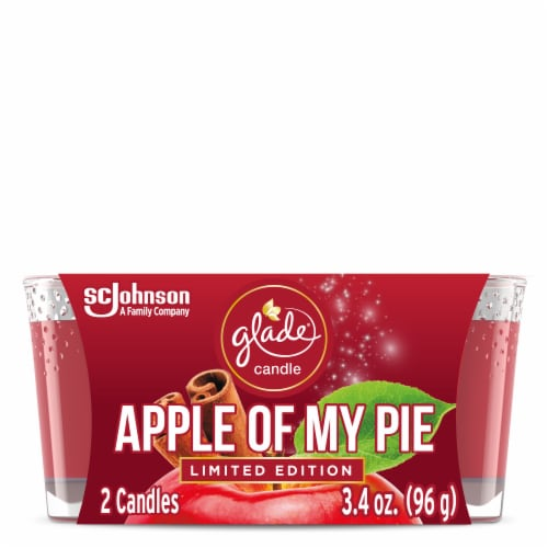 Glade Apple of My Pie Limited Edition Candles 2 Count Perspective: front