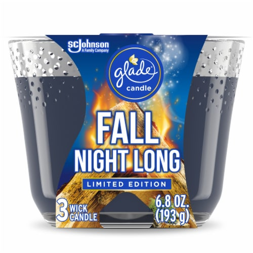 Glade Limited Edition Fall Night Long 3 Wick Jar Candle Perspective: front