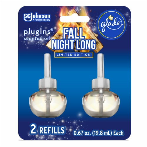 Glade PlugIns Limited Edition Fall Night Long Scented Oil Refills 2 Count Perspective: front