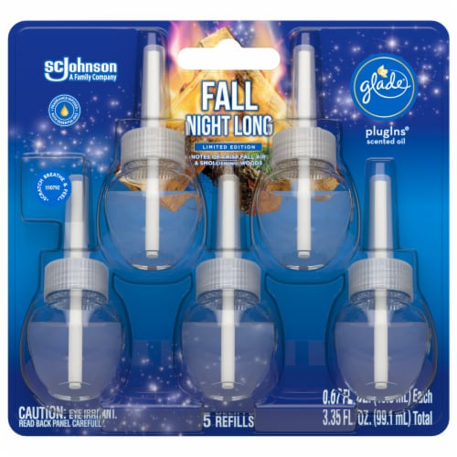 Glade Fall Night Long Limited Edition Plug Ins Refill 5 Count Perspective: front