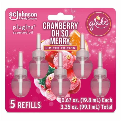 Glade Plug Ins Cranberry Oh So Merry Scented Oil Refills Perspective: front