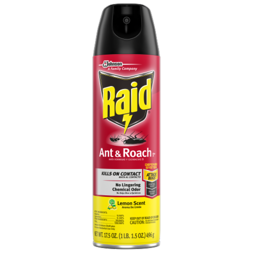 Raid® Lemon Scented Ant & Roach Killer Perspective: front
