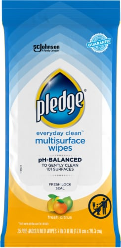 Pledge Clean It Citrus Multi Surface Wipes Perspective: front