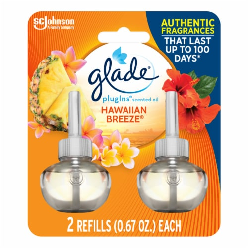 Glade Plug Ins Hawaiian Breeze Scented Oil Refills Perspective: front
