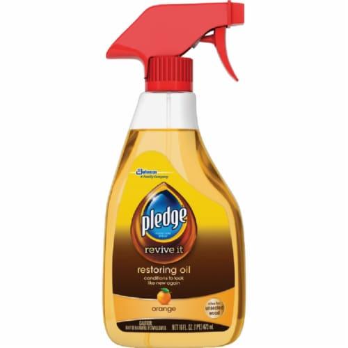 Pledge  Revitalizing Oil  Orange Scent Furniture Polish  16 oz. Spray - Case Of: 6; Perspective: front