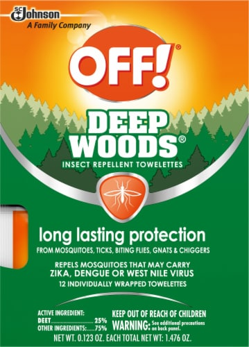 Off!® Deep Woods Unscented Insect Repellent Towelettes Perspective: front