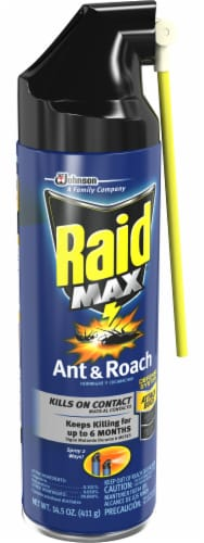 Raid® Max Ant and Roach Insecticide Perspective: front