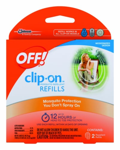 Off!® Clip-On Mosquito Repellent Refill - 2 Pack Perspective: front