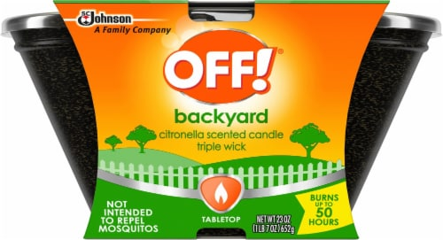 Off!® Triple Wick Citronella Insect Repellent Candle Perspective: front