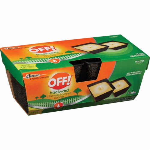 OFF! 8 Oz. 1-Wick Mini Citronella Candle (2-Pack) 72010 Perspective: front