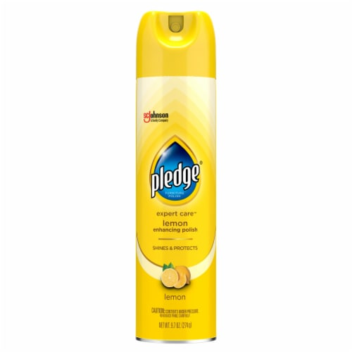 Pledge Beautify It Lemon Enhancing Polish Spray Perspective: front