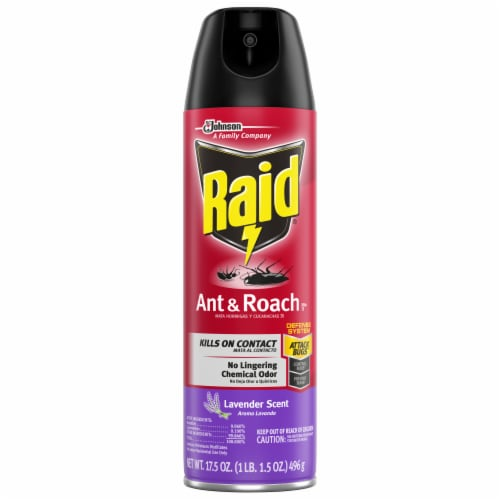 Raid® Lavender Scent Ant and Roach Insecticide Spray Perspective: front