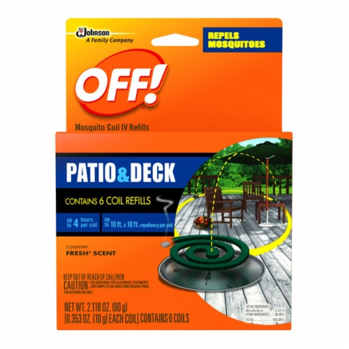 Off!® Patio and Deck Mosquito Repellent Coil Refills 6 Count Perspective: front