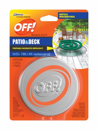 Off! Patio and Deck Mosquito Coil - 3 Pack Perspective: front