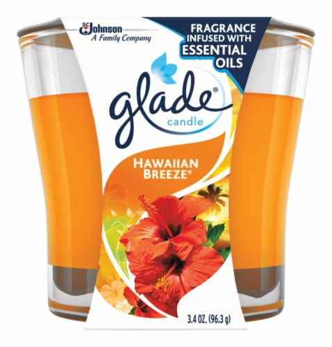 Glade Hawaiian Breeze Candle Perspective: front