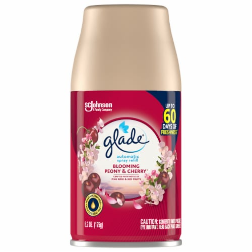 Glade Blooming Peony & Cherry Automatic Spray Refill Perspective: front