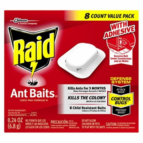 Ant Baits, 0.24 oz, 8/Box, 12 Boxes/Carton 697329 Perspective: front