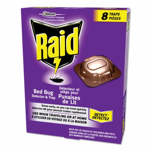 Raid® Bed Bug Detector and Trap Perspective: front