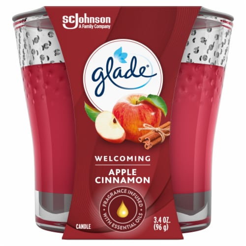 Glade Apple Cinnamon Jar Candle Perspective: front