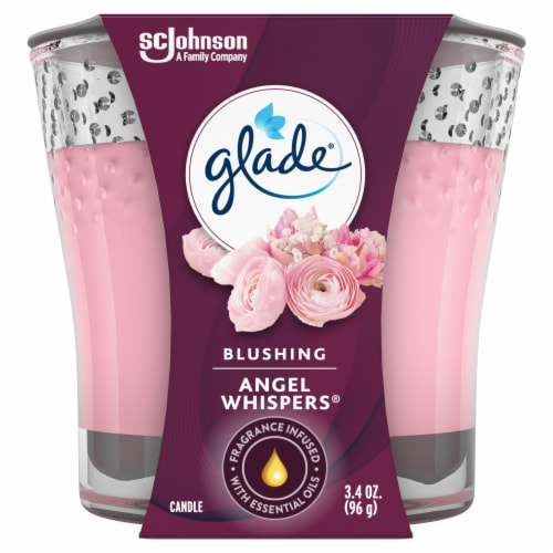 Glade Jar Candle Angel Whispers Perspective: front