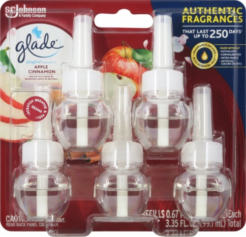 Glade PlugIns Scented Oil Apple Cinnamon Refills Perspective: front