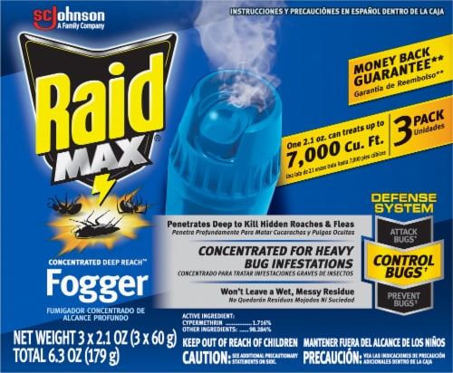 Raid® Max Concentrated Deep Reach Insecticide Fogger Perspective: front