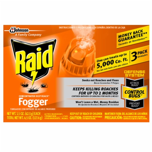 Raid® Concentrated Deep Reach Fogger Perspective: front