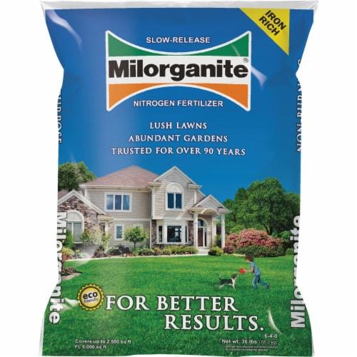 Milorganite Slow-Release Nitrogen Lawn Fertilizer Perspective: front