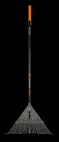 Fiskars 395100-1001 62.75 in. Fiberglass Metal Leaf Rake Perspective: front