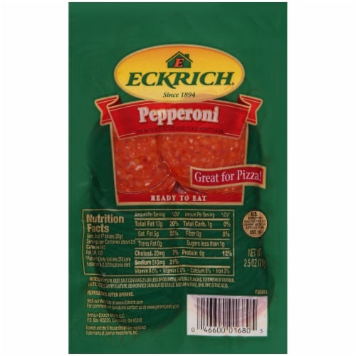 Eckrich Sliced Pepperoni Perspective: front