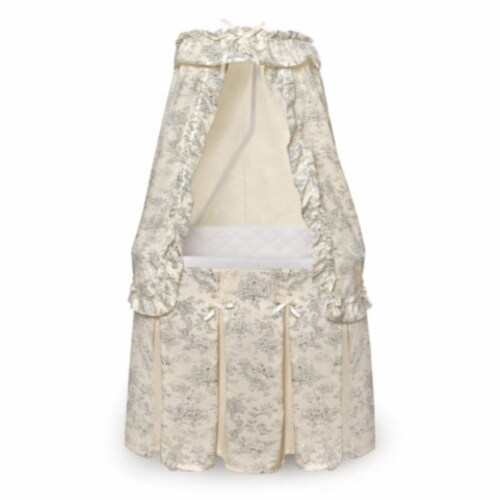 Majesty Bassinet - Black Toile Perspective: front