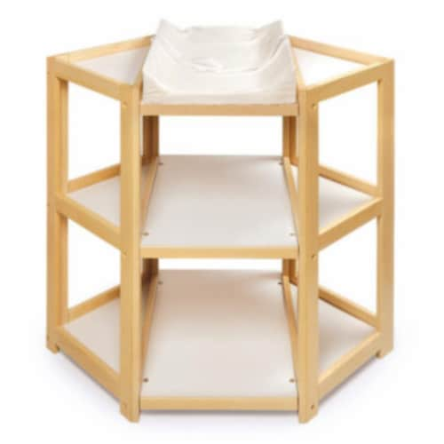 Diaper Corner Changing Table - Natural Perspective: front
