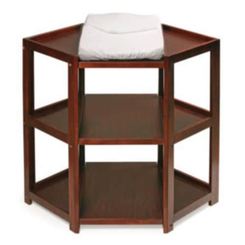 Diaper Corner Changing Table - Cherry Perspective: front