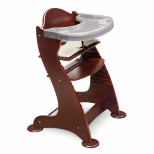 Embassy Wood High Chair with Tray - Cherry Perspective: front