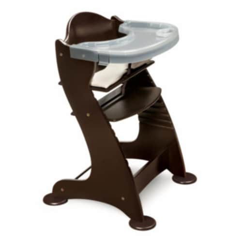 Embassy Wood High Chair with Tray - Espresso Perspective: front