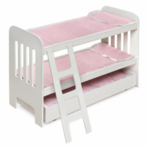 Trundle Doll Bunk Beds w/Ladder Perspective: front