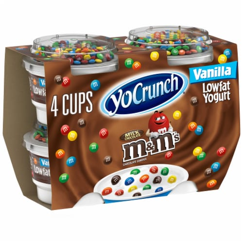 YoCrunch Vanilla Lowfat Yogurt with M&Ms Perspective: front