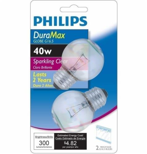 Philips DuraMax 40-Watt Medium Base G16.5 Globe Light Bulbs Perspective: front