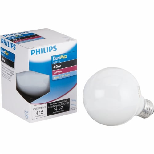 Philips 40-Watt Medium Base G25 Globe Vanity Light Bulb Perspective: front