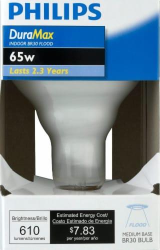 Philips 65-Watt BR30 Incandescent Light Bulb Perspective: front