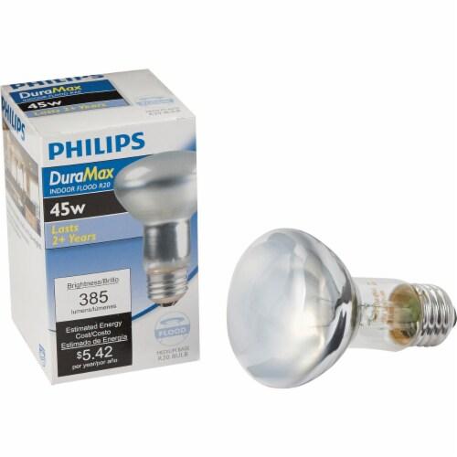 Philips DuraMax 45-Watt Medium Base R20 Indoor Floodlight Bulb Perspective: front