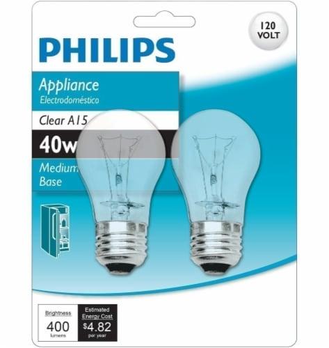 Philips 40-Watt Medium Base Appliance A15 Light Bulbs Perspective: front