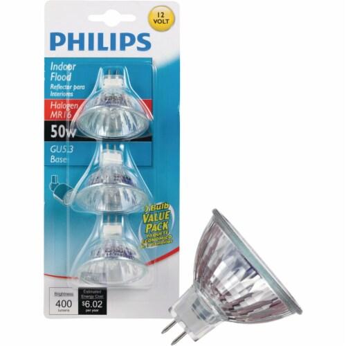 Philips 50-Watt GU5.3 Base MR16 Halogen Indoor Floodlight Bulbs Perspective: front