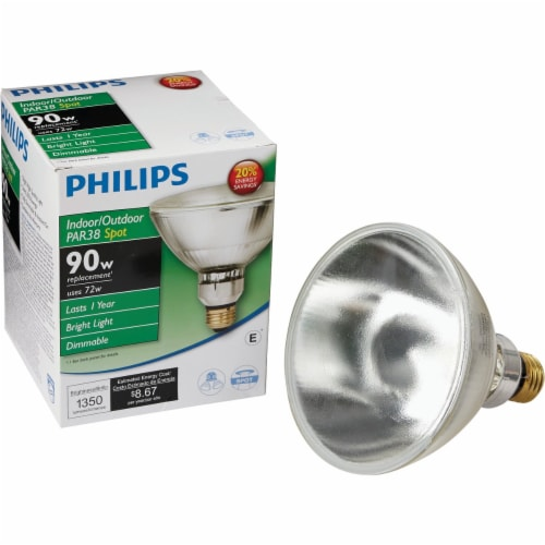 Philips EcoVantage 72-Watt (90-Watt) PAR38 Indoor & Outdoor Halogen Spotlight Bulb Perspective: front