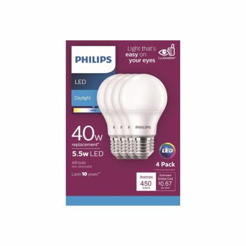 Philips 5.5-Watt (40-Watt) A19 LED Light Bulbs Perspective: front