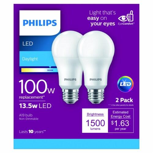 Philips 13.5-Watt (100-Watt) A19 LED Light Blulbs Perspective: front