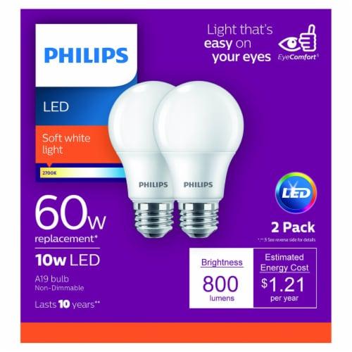 Philips 10-Watt (60-Watt) A19 LED Light Bulbs Perspective: front